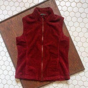 Woolrich Full Zip Red Corduroy Vest L